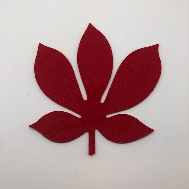 Onderzetter blad chestnut poppy red 55