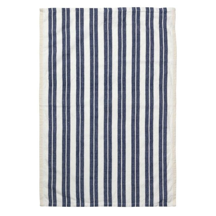 Hale yarn dyed linen tea towel off white