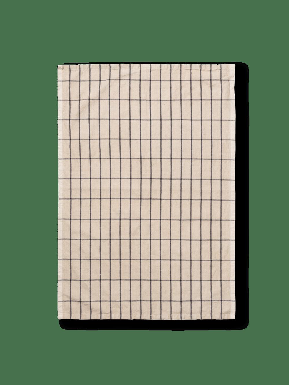 Hale yarn dyed linen tea towel sand