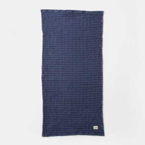 Organic hand towel dark blue