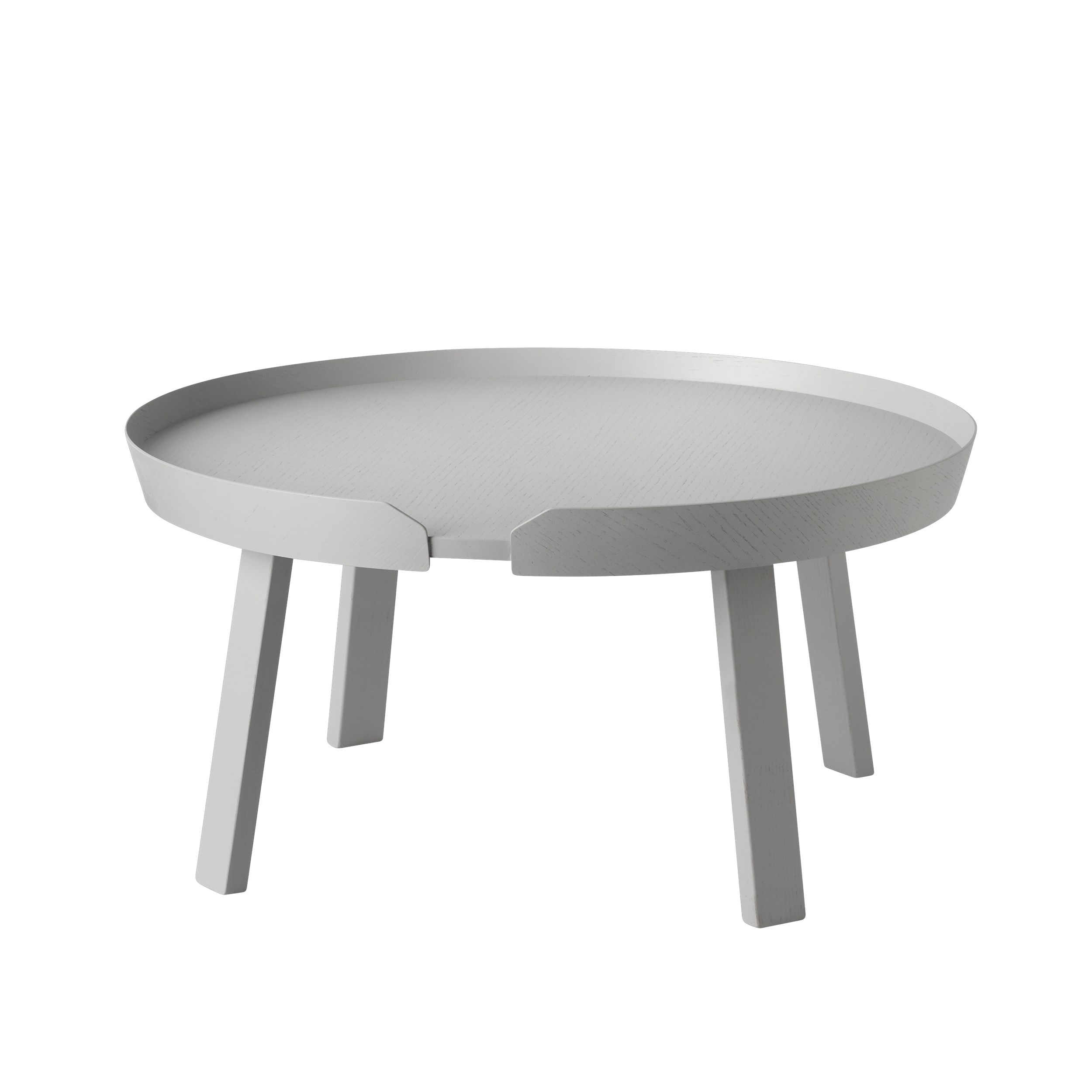 Around coffee table large grey
