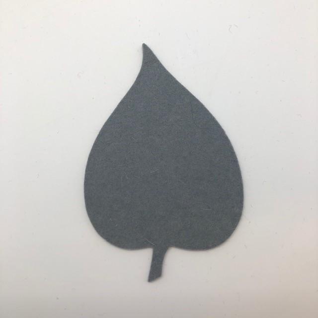 Onderzetter blad linden light grey 16