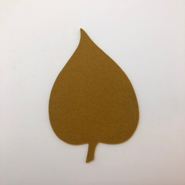 Onderzetter blad linden mustard 96