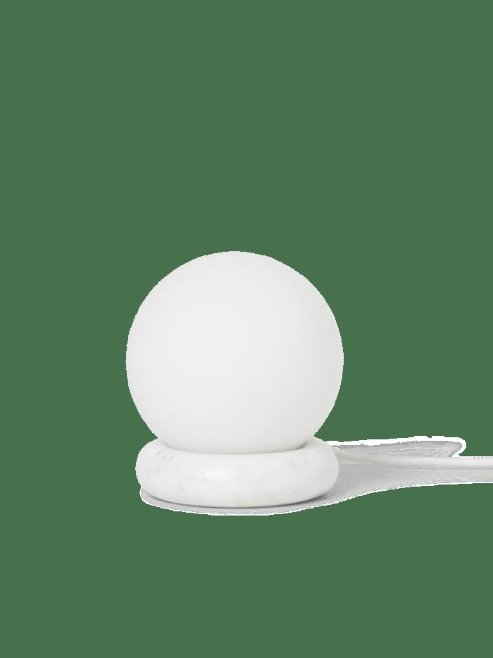 Rest lamp white marble