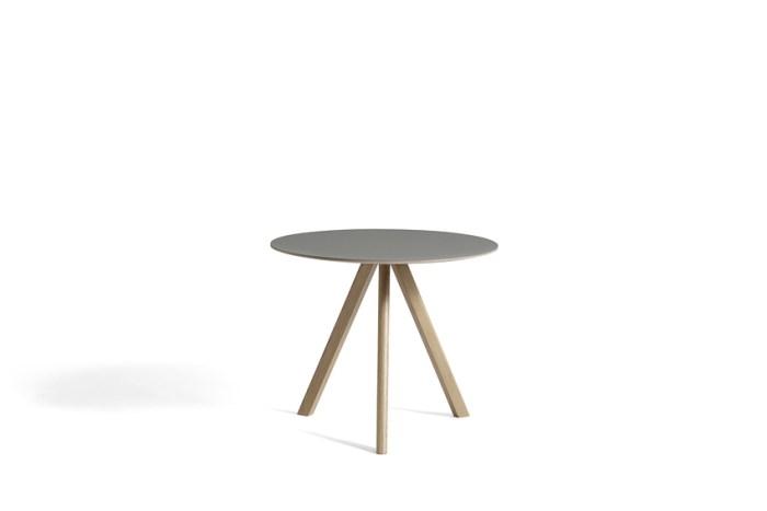 Hay CPH20 Table Round 90 Grey Linoleum/Soaped