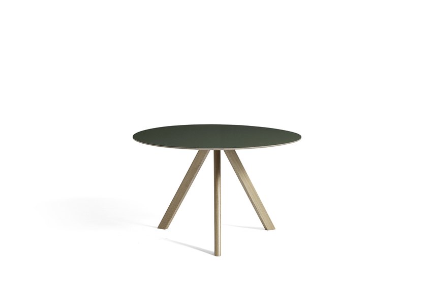 Hay CPH 20 Table Round 120 Grey Linoleum/Soaped