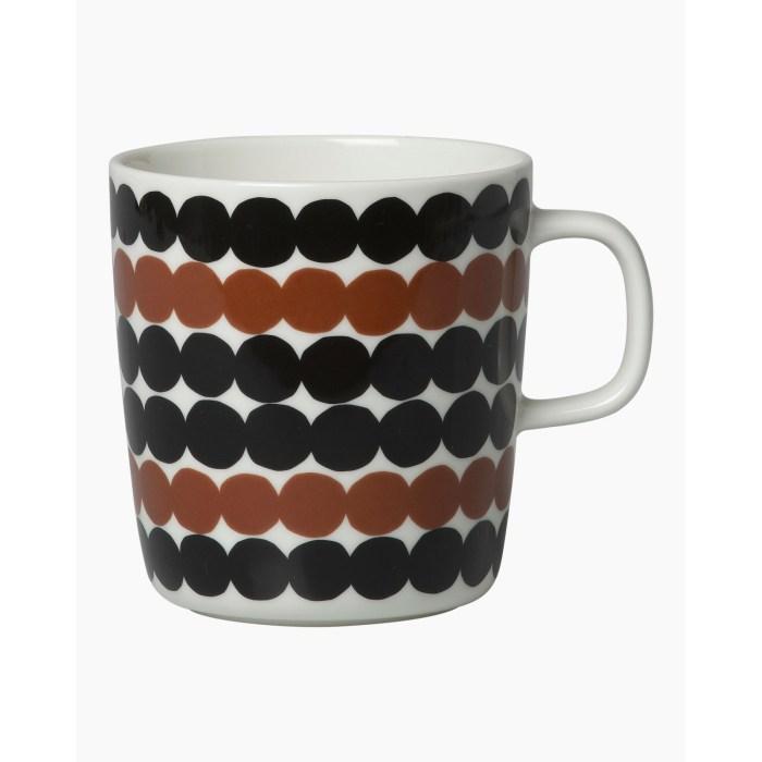 Marimekko Siirtolapuutarha Mug 4 dl Black/Brown