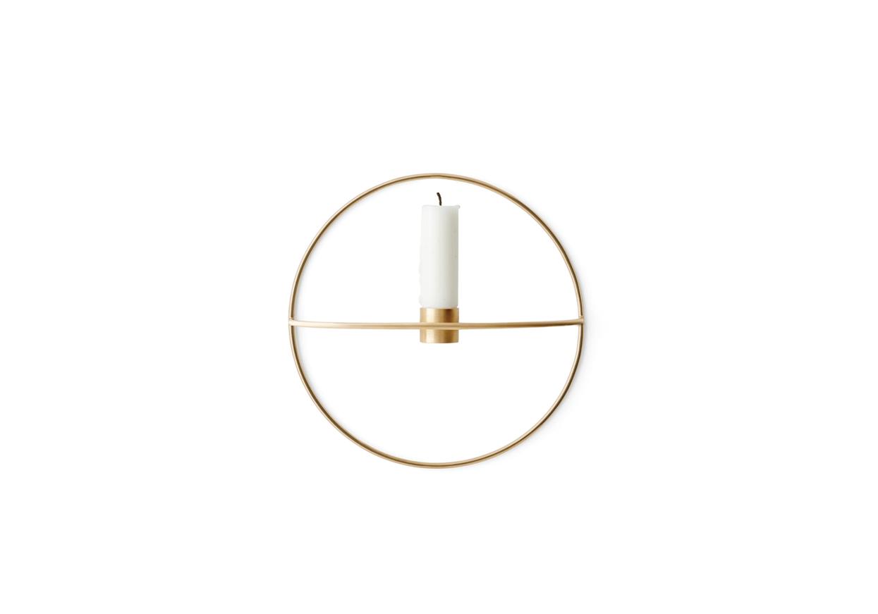 Menu POV Circle Candleholder S Brass