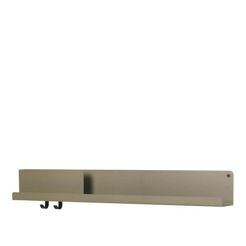 Muuto Folded Shelf Large olive 96cm