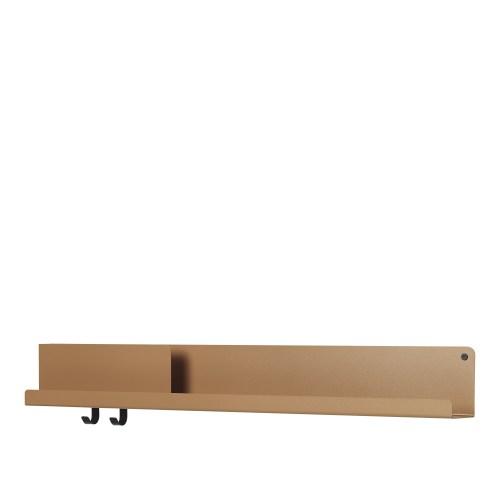 Muuto Folded Shelf Large burn orange 96cm