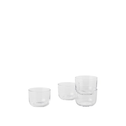 Corky glasses low set of 4 clear