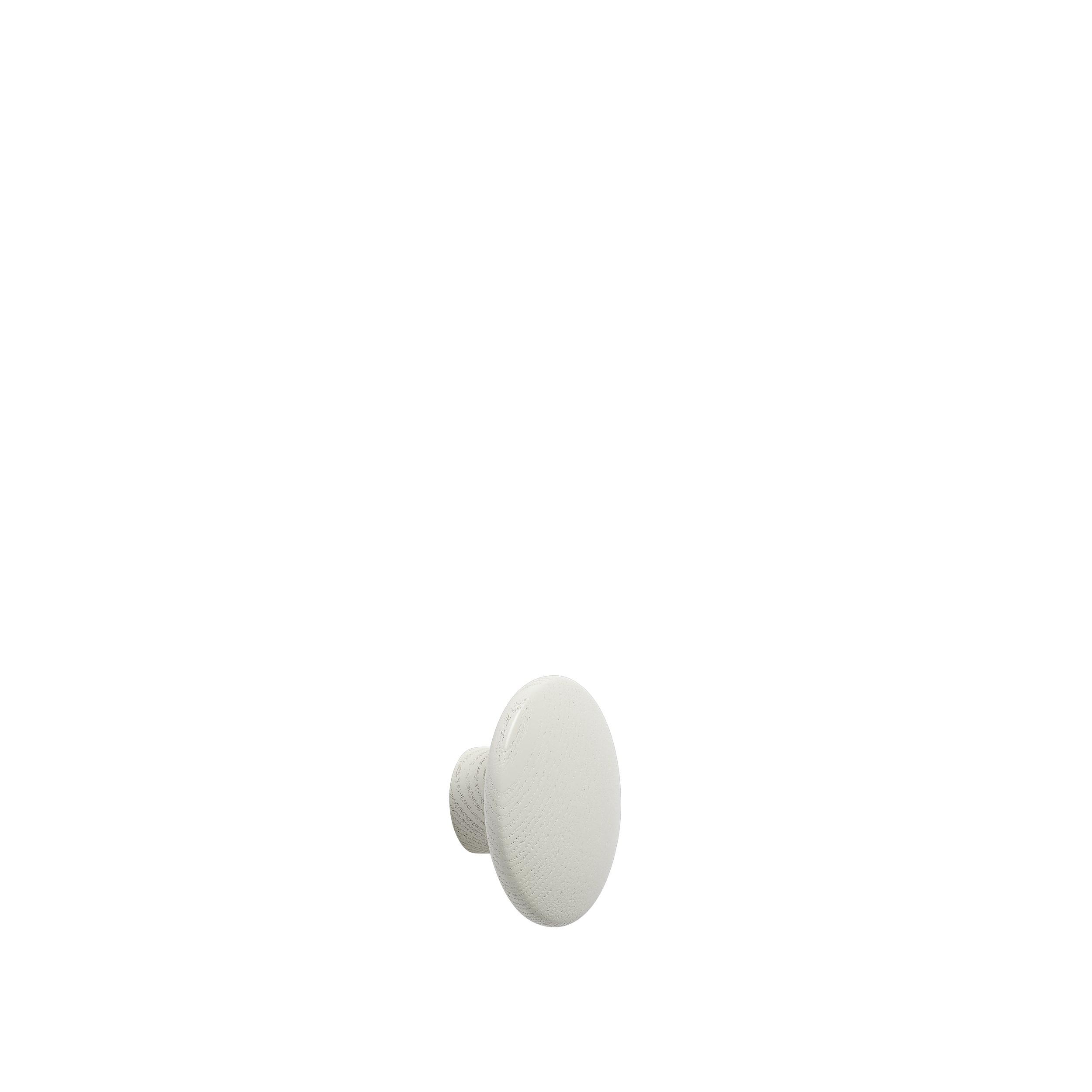 Dot wood X-small Ø 6,5 cm off-white