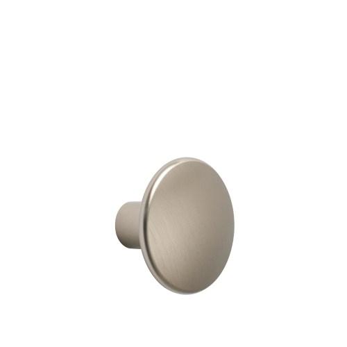 Dots metal medium Ø 3,9 cm taupe
