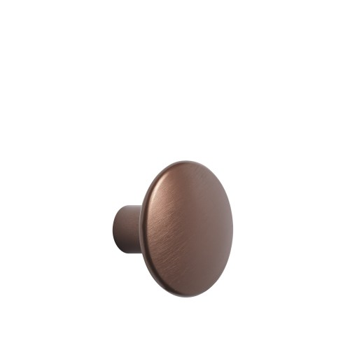 Dots metal medium Ø 3,9 cm umber