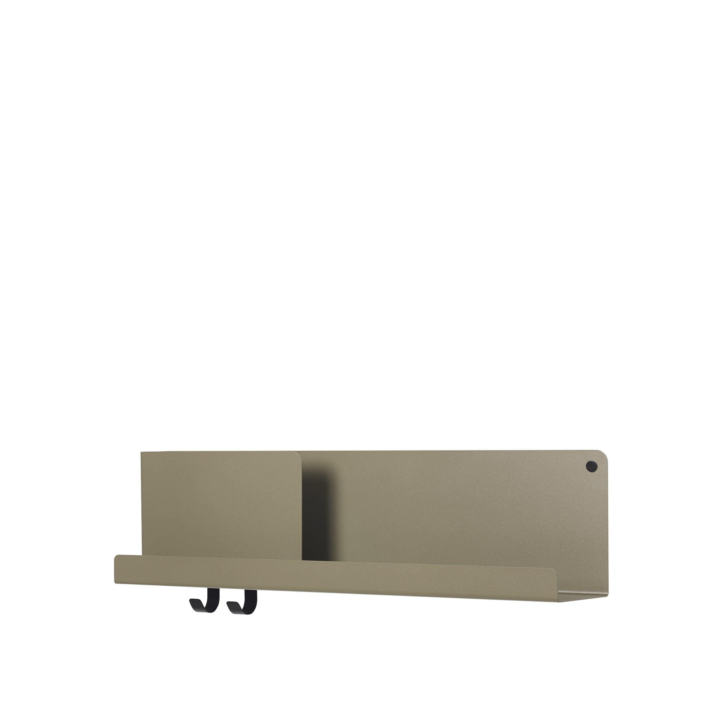 Folded shelf medium olive 63cm