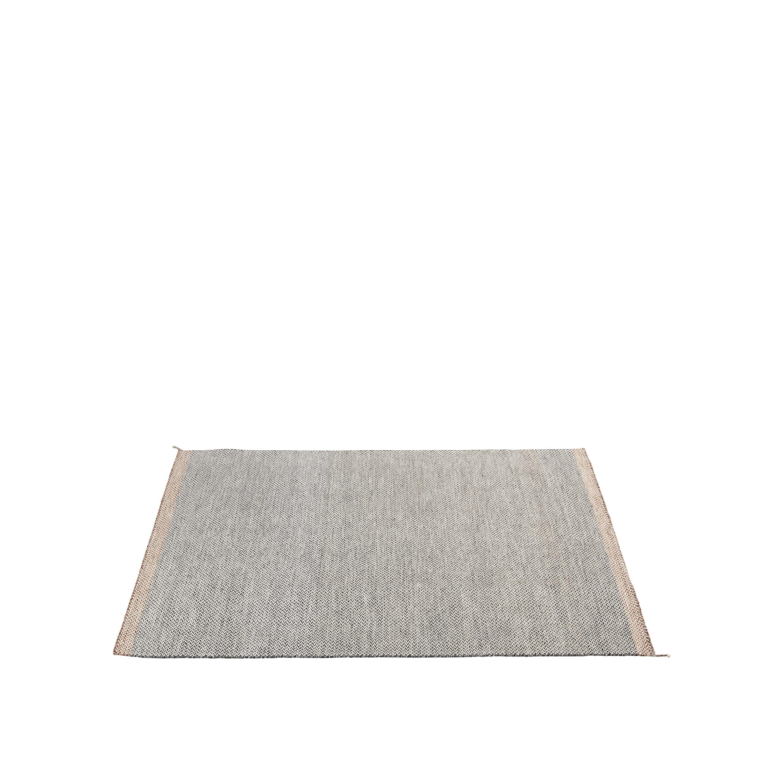 Ply rug 170 x 240 black/white