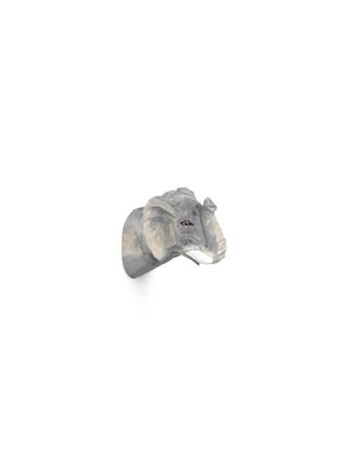 Animal hand-carved hook elephant