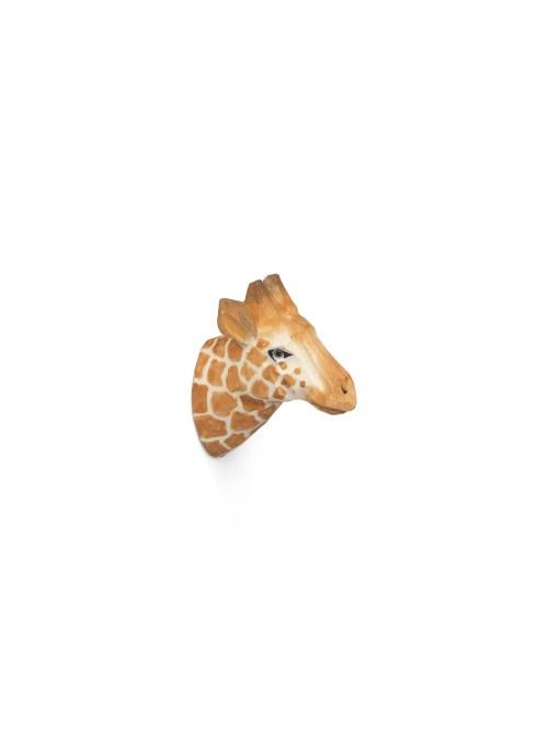 Animal hand-carved hook giraffe