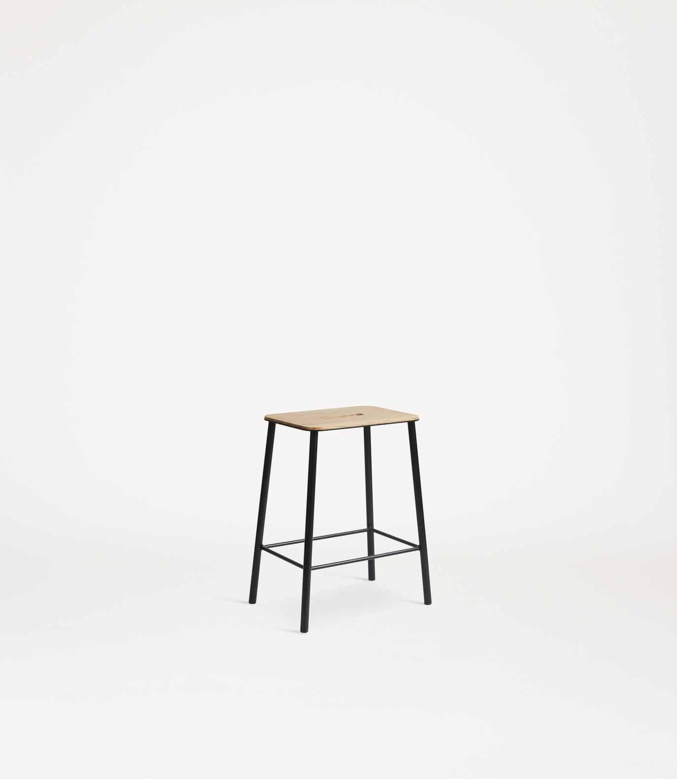 Frama Adam Stool H50 Oak/Black
