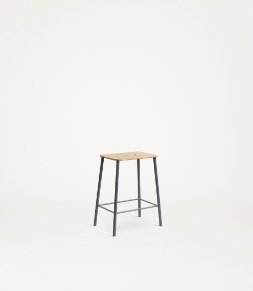 Frama Adam Stool H50 Oak/Grey