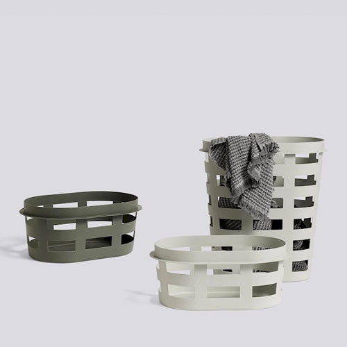 HAY Laundry Basket Small Army Dark Green