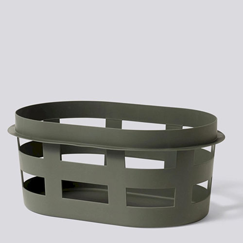 HAY Laundry Basket Small Army Dark Green