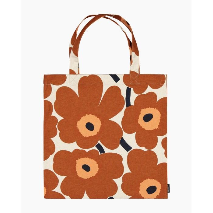 Marimekko Pieni Unikko Bag Brown Orange