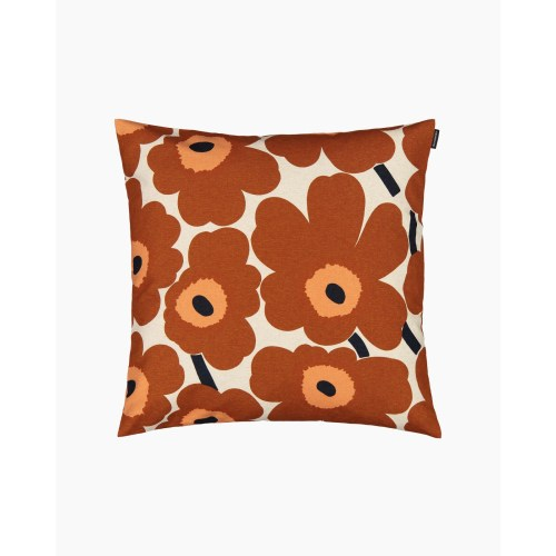 Marimekko Pieni Unikko Cushion Cover 45x45 Brown/Orange