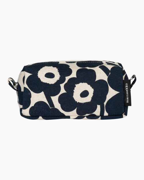 Marimekko Tiise Mini Unikko Cosmetic Bag Dark Blue