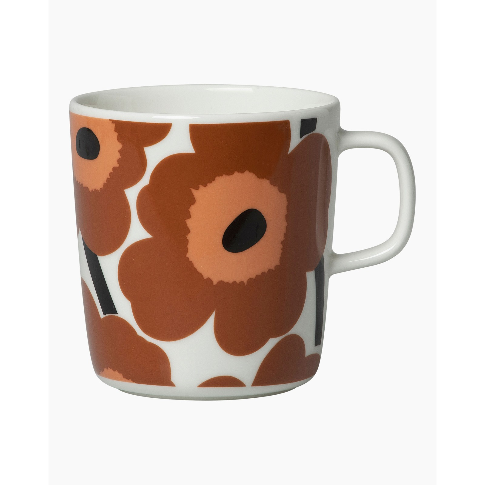 Marimekko Unikko Mug 4dl Brown Orange