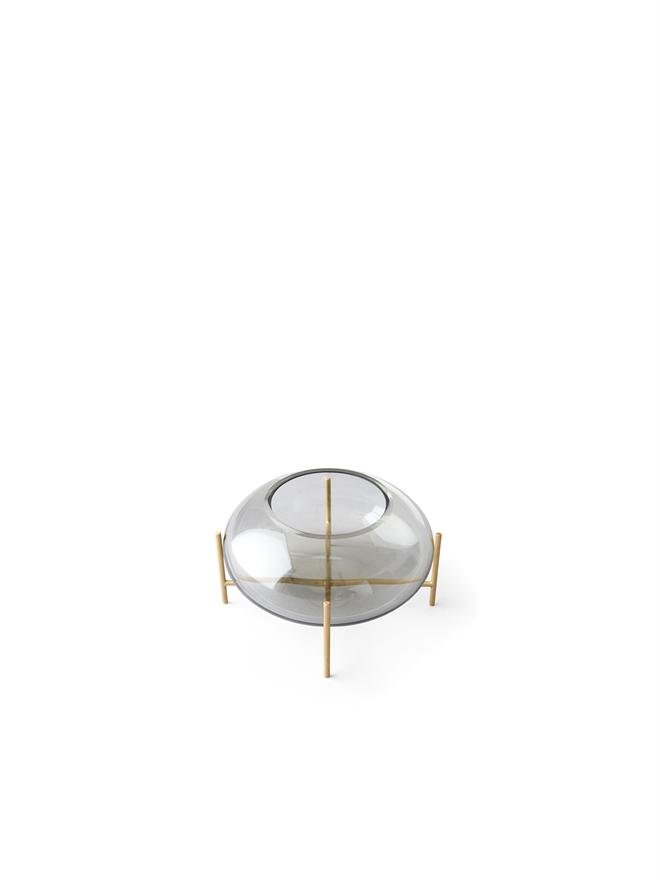 Menu Echasse Hurricane Smoke Glass/Brushed Brass