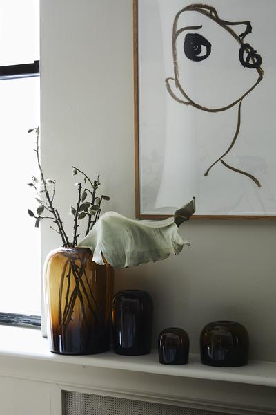 Menu Troll Vase Medium Amber