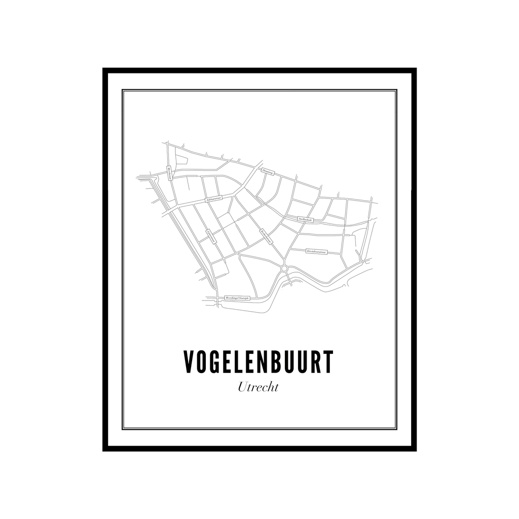 Utrecht Vogelenbuurt ansichtkaart