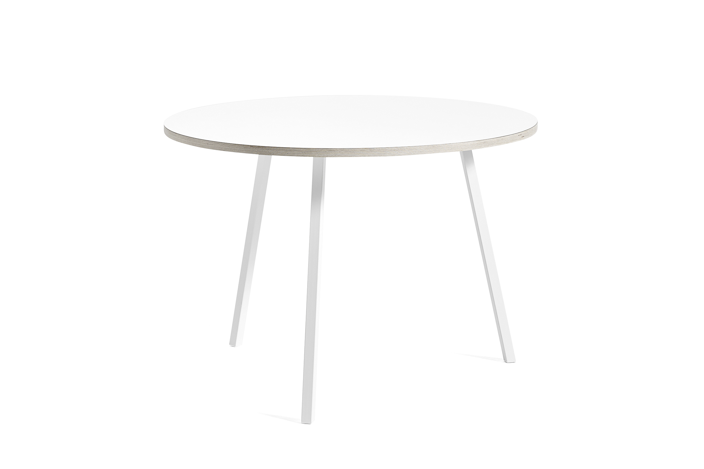 Loop stand round table white laminate 105 cm