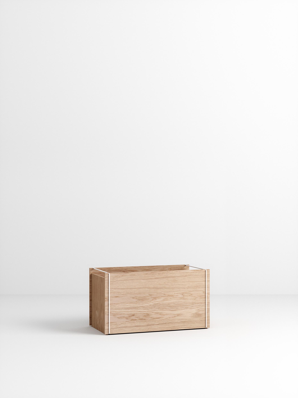Moebe Storage Box Oak/White