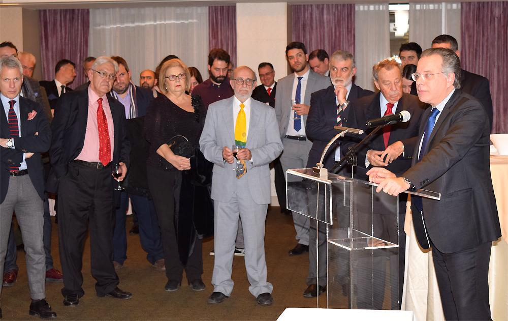 Ο Βουλευτής Β' Αθηνών και Τομεάρχης Εξωτερικών ΝΔ και εκπρόσωπος του Προέδρου της ΝΔ κ. Κυριάκου Μητσοτάκη στην εκδήλωση του ΚΕΔΙΣΑ, κ.Γιώργος Κουμουτσάκος.