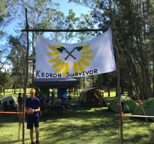Kedron Scouts campsite for Kedron Survivor