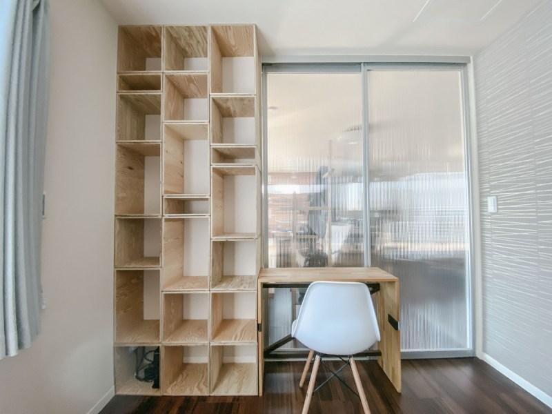 【diy/011】フレキシブルな-木箱の棚-