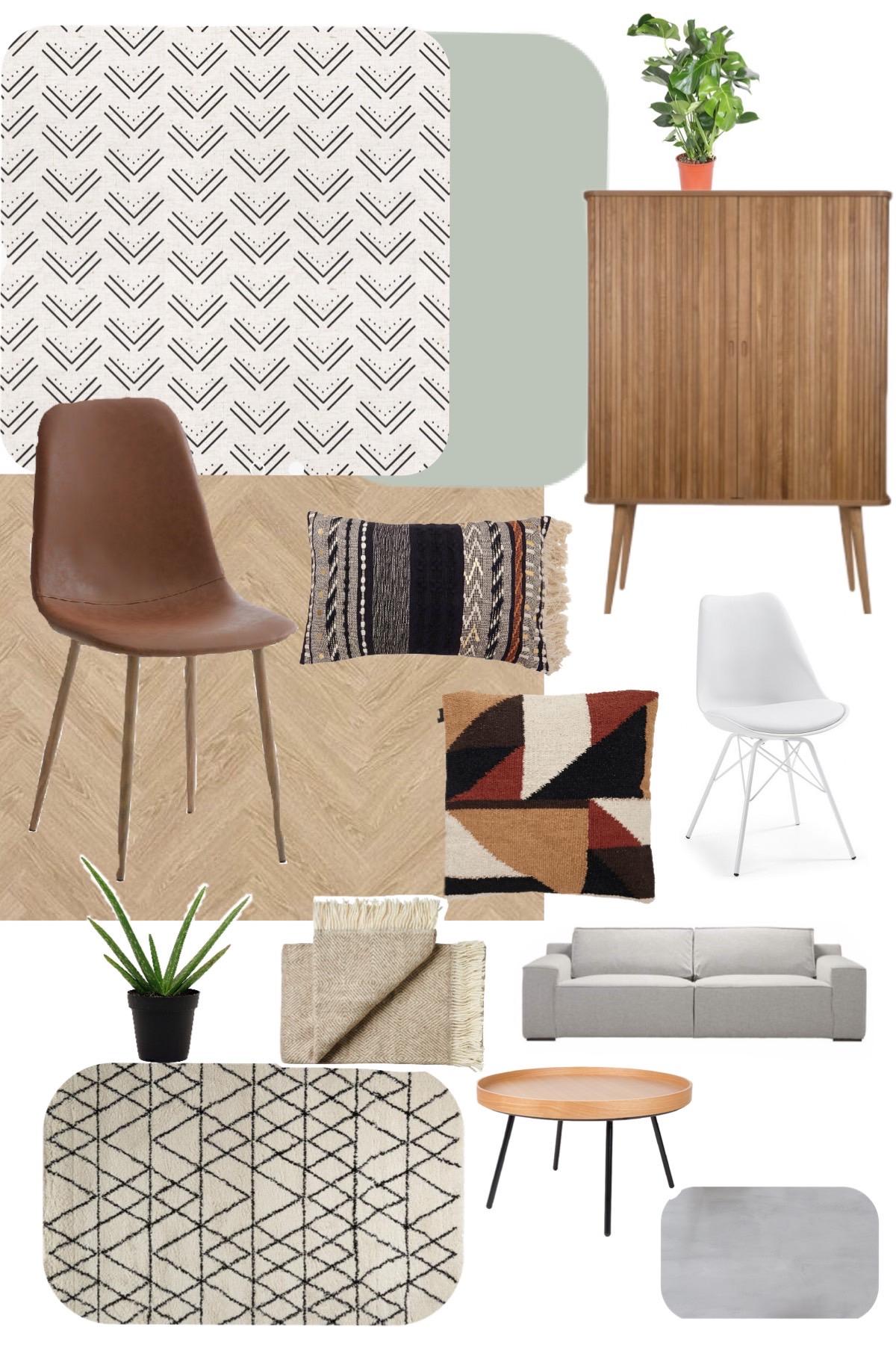 keeelly91 moodboard interieur woonkamer bohemian livingroom zuiver visgraat woon