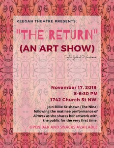 The Return: An Art Show by Billie Krishawn