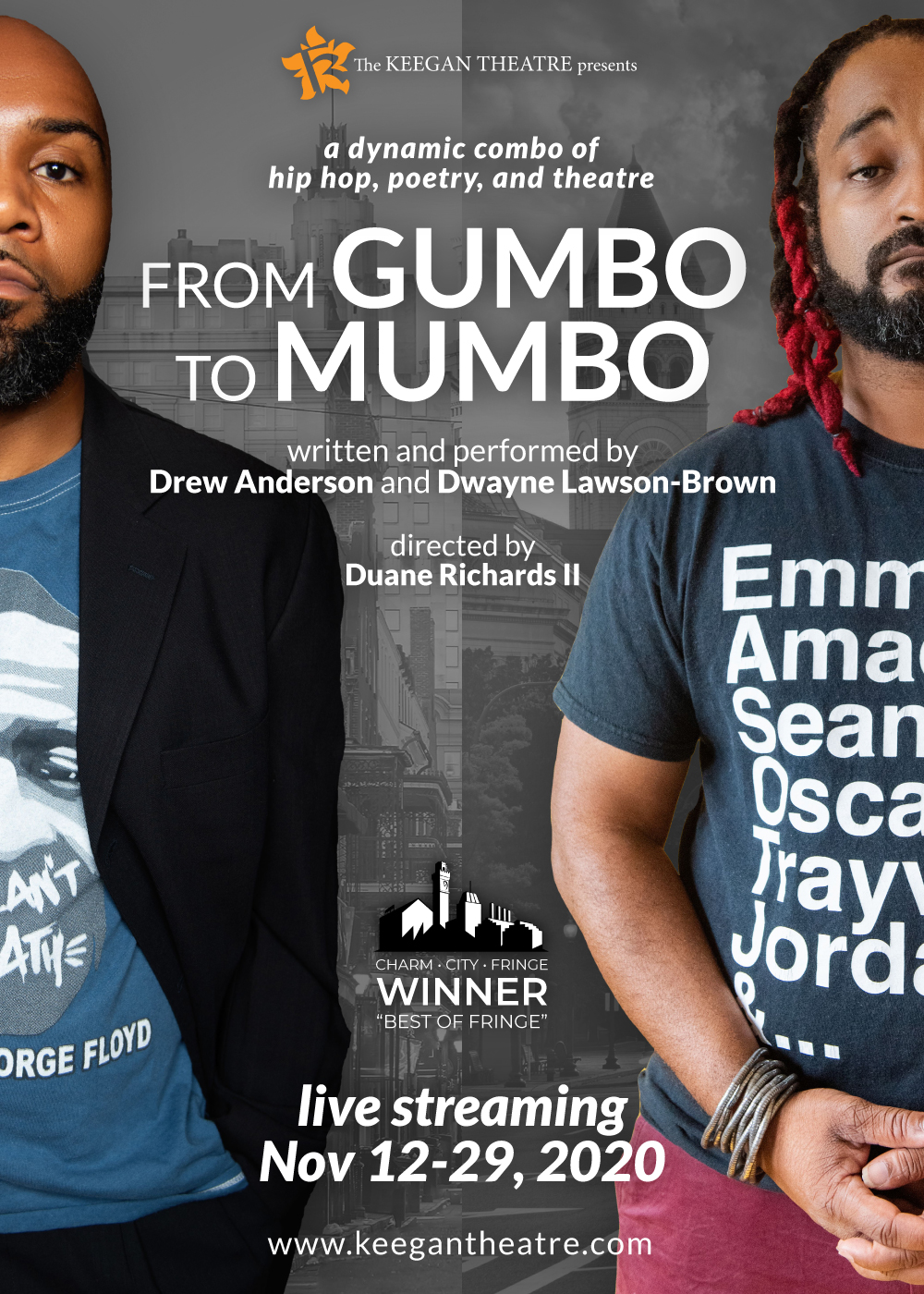 FROM GUMBO TO MUMBO, by Drew Anderson and Dwayne Lawson-Brown, directed by Duane Richards II. Photo by R. Dione Foto.