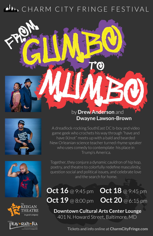 From Gumbo to Mumbo at Charm City Fringe Festival