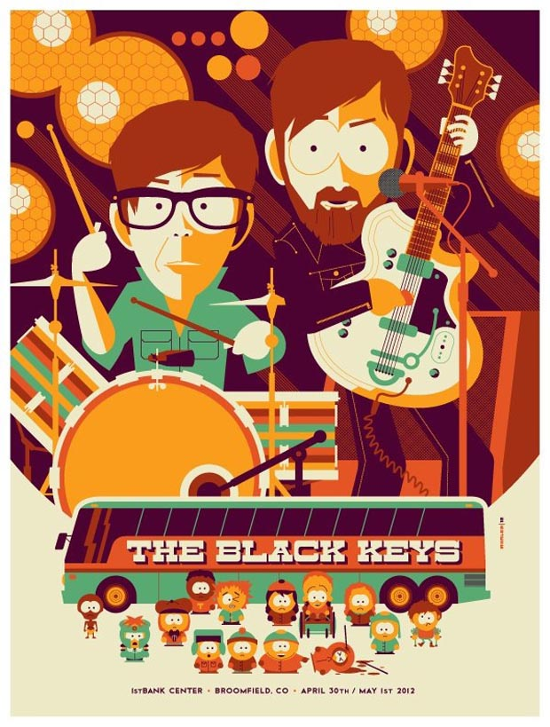 the black keys concert poster life
