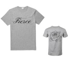 """GREY """"FIERCE"""" T-SHIRT"""