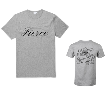 "GREY ""FIERCE"" T-SHIRT"