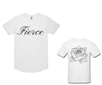 "WHITE ""FIERCE"" T-SHIRT"
