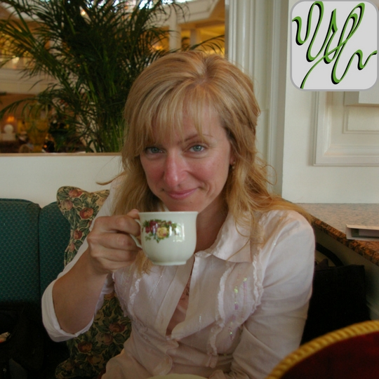 Gina Iliopoulos is the new host of GreenMark Pr's new on line news show. Here we see her enjoying a cup of tea at Disney's Grand Floridian Resort. The GreenMark Squiggle is in the upper right hand corner letting us know it is official.