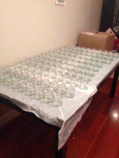 Jars ready for wax
