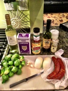 Italian Sausage with Brussels Sprouts and Lentils on KeelyMarie.com