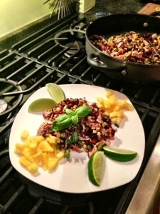 Thai Chicken & Pineapple Purple Fried Rice by KeelyMarie at http://www.keelymarie.com